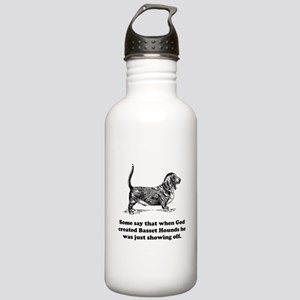 When God Created Basset Hounds Sports Water Bottle