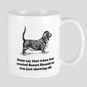 When God Created Basset Hounds Small Mug