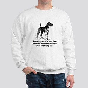 When God Created Airedales Jumper