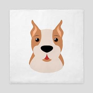 Cute Cartoon Boxer (Dog) Queen Duvet