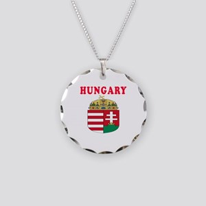 Hungary Coat Of Arms Designs Necklace Circle Charm