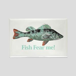 Fish Fear Me Humorous Fisherman Quote Rectangle Ma