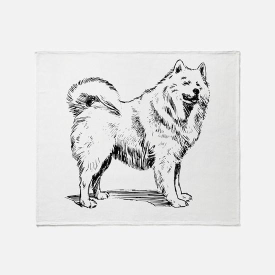 Samoyed Sketch Throw Blanket