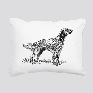 English Setter Sketch Rectangular Canvas Pillow
