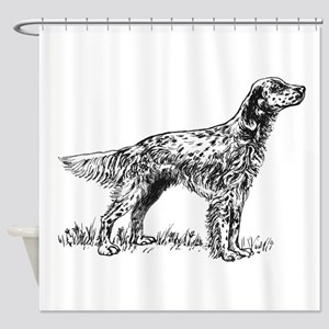 English Setter Sketch Shower Curtain