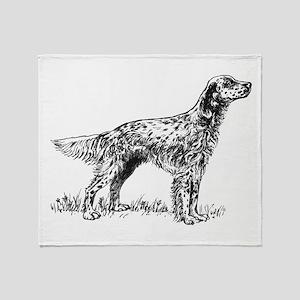 English Setter Sketch Throw Blanket