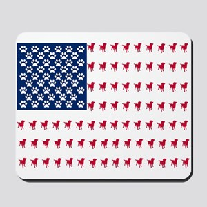 USA Dog Flag Mousepad