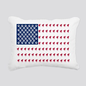 USA Dog Flag Rectangular Canvas Pillow