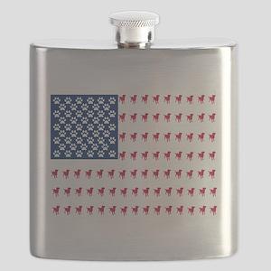 USA Dog Flag Flask