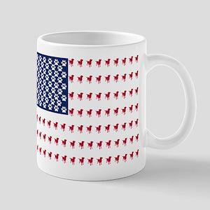 USA Dog Flag Small Mug