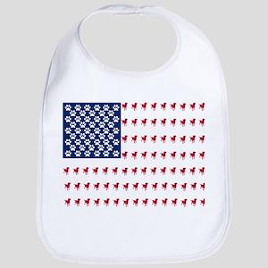 USA Dog Flag Bib