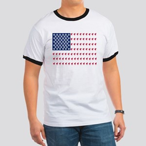 USA Dog Flag T-Shirt