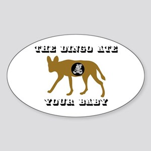 The Dingo Ate Your Baby Oval Sticker