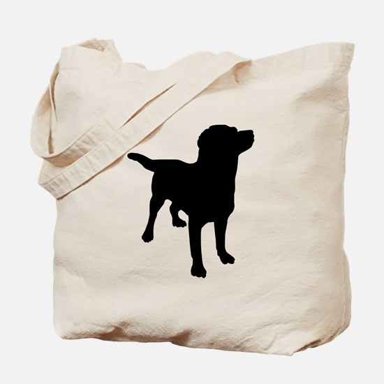 Dog Silhouette Tote Bag