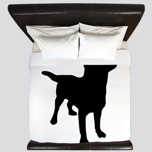 Dog Silhouette King Duvet