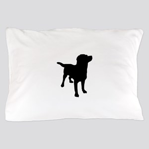 Dog Silhouette Pillow Case