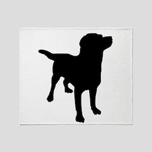 Dog Silhouette Throw Blanket