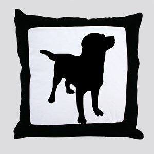 Dog Silhouette Throw Pillow