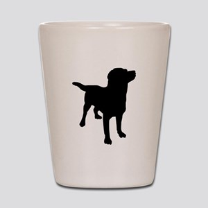 Dog Silhouette Shot Glass