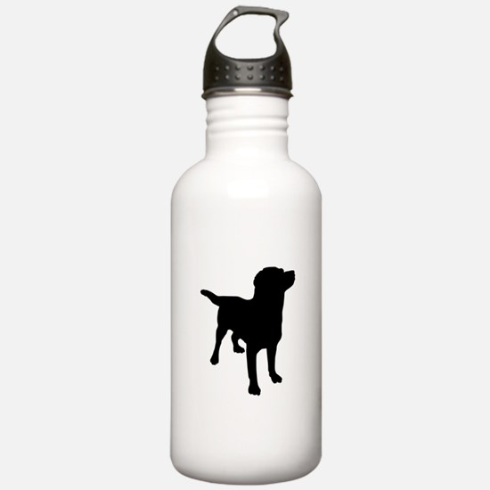Dog Silhouette Sports Water Bottle
