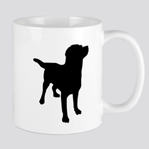 Dog Silhouette Small Mug