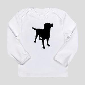 Dog Silhouette Long Sleeve T-Shirt