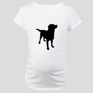 Dog Silhouette Maternity T-Shirt