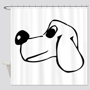 Dog Face Drawing Shower Curtain