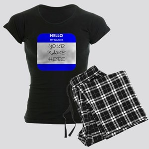 Custom Blue Name Tag pajamas