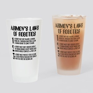 ASIMOV'S LAWS Drinking Glass