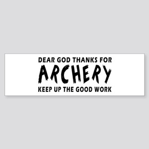 Archery Martial Arts Designs Sticker (Bumper)