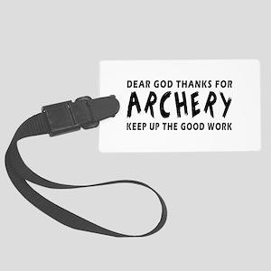 Archery Martial Arts Designs Large Luggage Tag