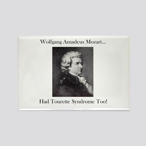 Mozart Tourette Syndrome Rectangle Magnet
