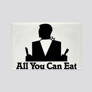 All You Can Eat Rectangle Magnet