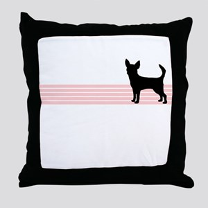 Retro Chihuahua Throw Pillow