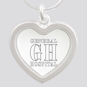 General Hospital Silver Heart Necklace