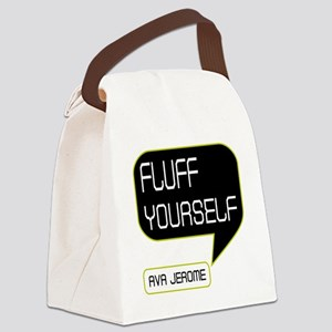 Ava Jerome Fluff Yourself Canvas Lunch Bag