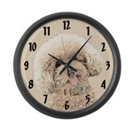 Poodle Large Wall Clock
