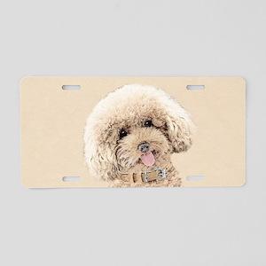 Poodle Aluminum License Plate