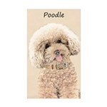 Poodle Sticker (Rectangle 50 pk)