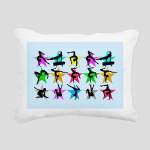 BLUE GYMNAST STAR Rectangular Canvas Pillow