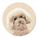 Poodle Round Car Magnet