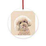 Poodle Round Ornament