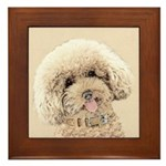 Poodle Framed Tile
