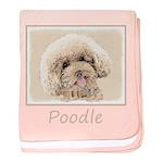 Poodle baby blanket