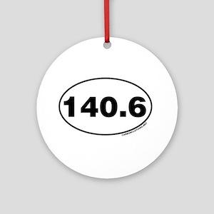 140.6 Miles Ornament (Round)