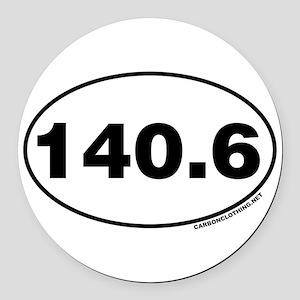 140.6 Miles Round Car Magnet