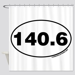 140.6 Miles Shower Curtain