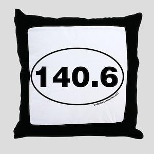 140.6 Miles Throw Pillow