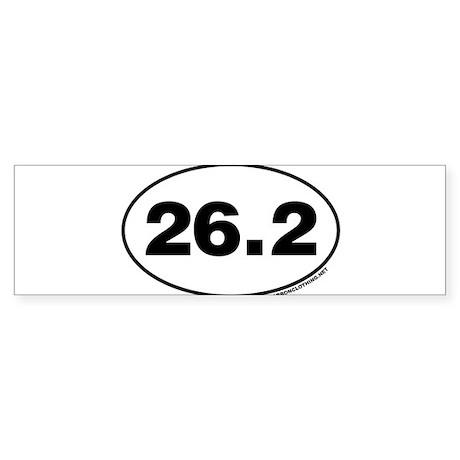 26.2 Miles Bumper Sticker